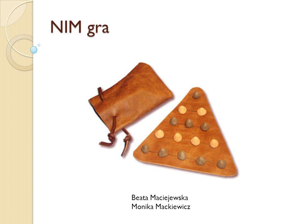 NIM gra Beata Maciejewska Monika Mackiewicz