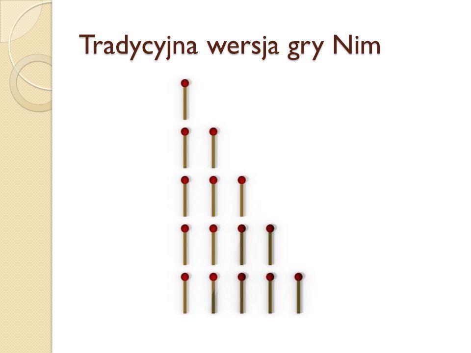 Tradycyjna wersja gry Nim