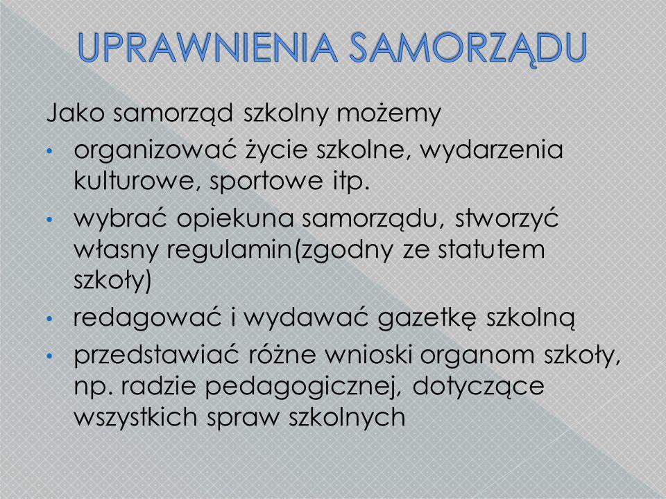 Wybory do tzw.zarządu samorządu uczniowskiego są przeprowadzane tj.