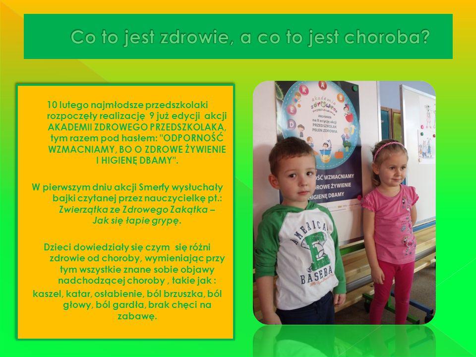 10 lutego najmłodsze przedszkolaki rozpoczęły realizację 9 już edycji akcji AKADEMII ZDROWEGO PRZEDSZKOLAKA, tym razem pod hasłem: