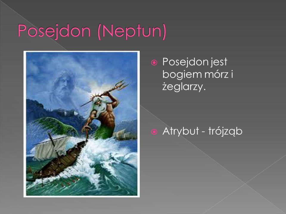  Posejdon jest bogiem mórz i żeglarzy.  Atrybut - trójząb