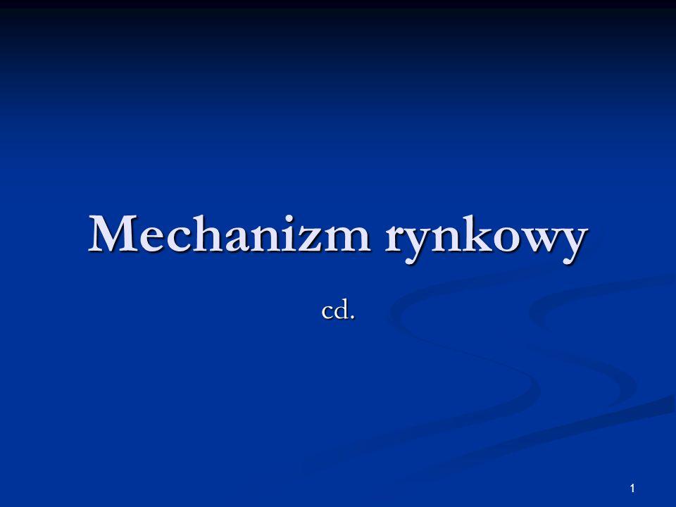 1 Mechanizm rynkowy cd.