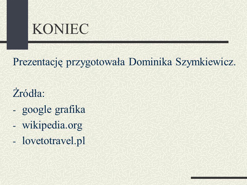 KONIEC Prezentację przygotowała Dominika Szymkiewicz.