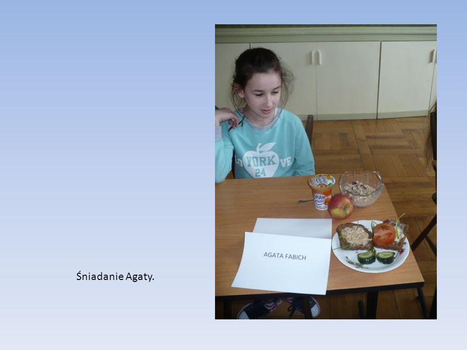 Śniadanie Agaty.