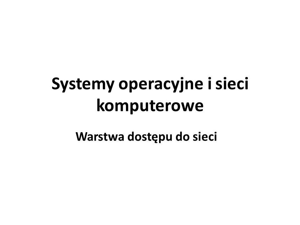 Systemy operacyjne i sieci komputerowe Warstwa dostępu do sieci
