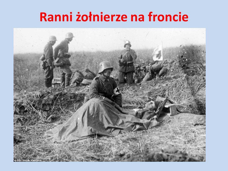 Ranni żołnierze na froncie