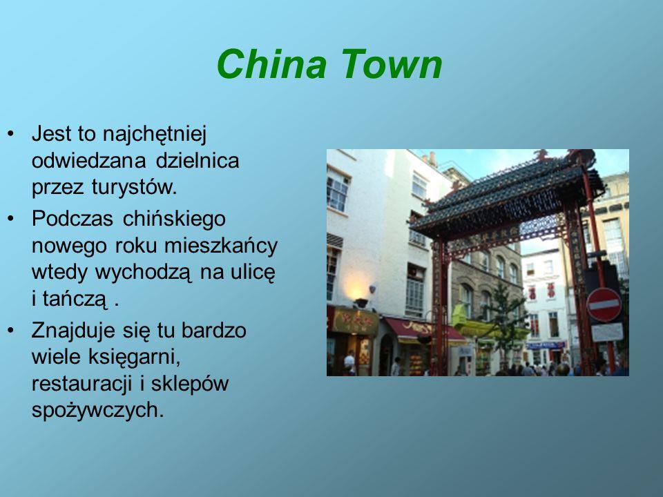 China Town Jest to najchętniej odwiedzana dzielnica przez turystów. Podczas chińskiego nowego roku mieszkańcy wtedy wychodzą na ulicę i tańczą. Znajdu