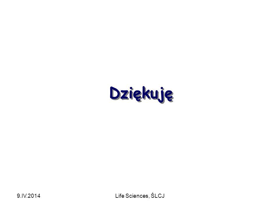 Dziękuję 9.IV.2014Life Sciences, ŚLCJ