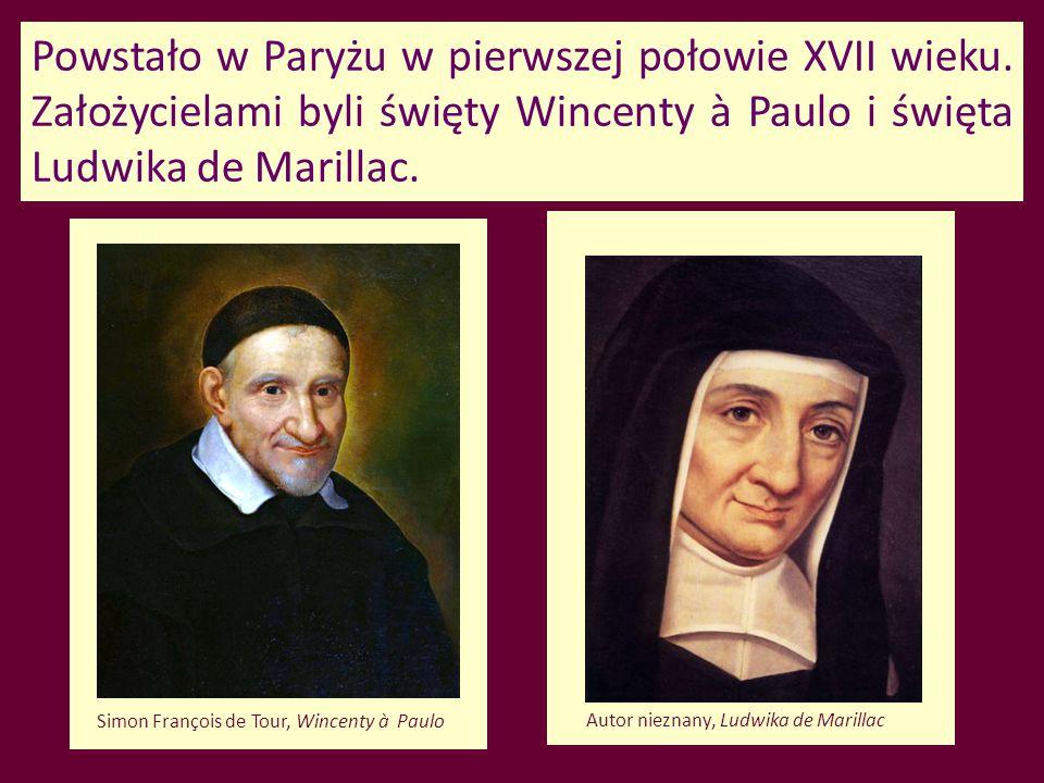 Powstało w Paryżu w pierwszej połowie XVII wieku. Założycielami byli święty Wincenty à Paulo i święta Ludwika de Marillac. Simon François de Tour, Win