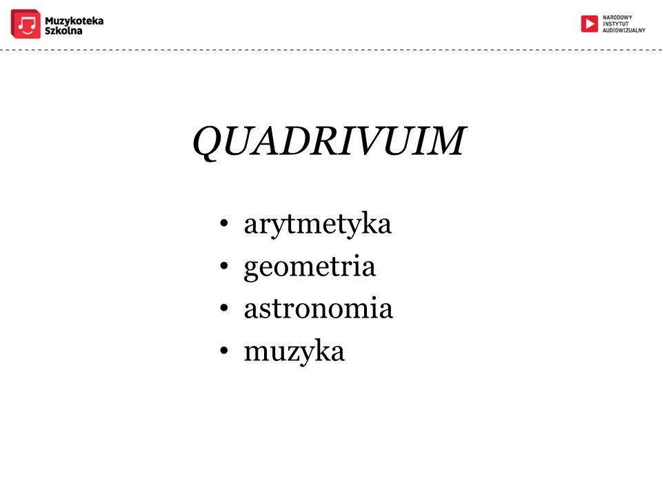 QUADRIVUIM arytmetyka geometria astronomia muzyka