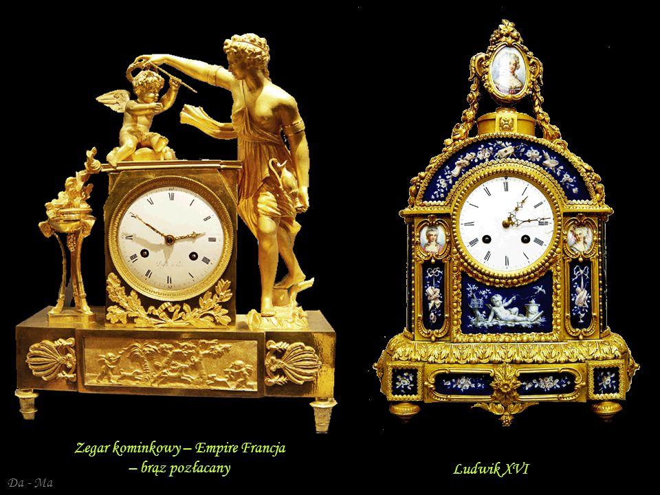 Da - Ma Victoria - Francja – złocony brąz - XIX w. Francja, Ludwik XVI – zegar kominkowy – marmur, brąz złocony