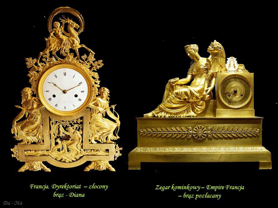 Da - Ma Zegar kominkowy – Empire Francja – brąz pozłacany Ludwik XVI