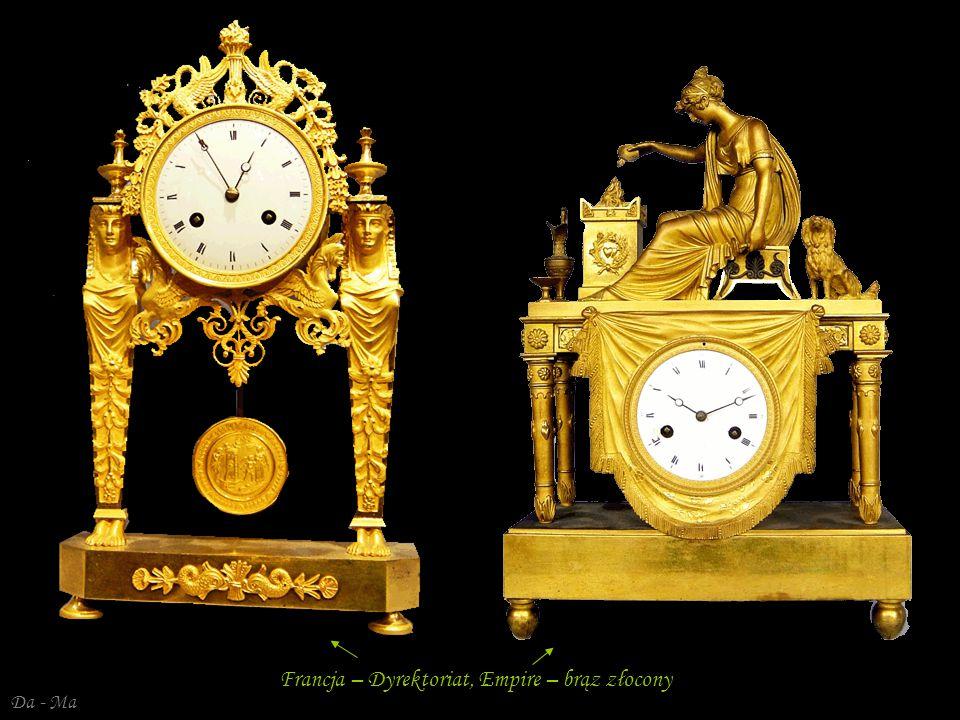 Da - Ma Francja –( Dyrektoriat – Empire ) – złocony brąz (Venus i Kupido)