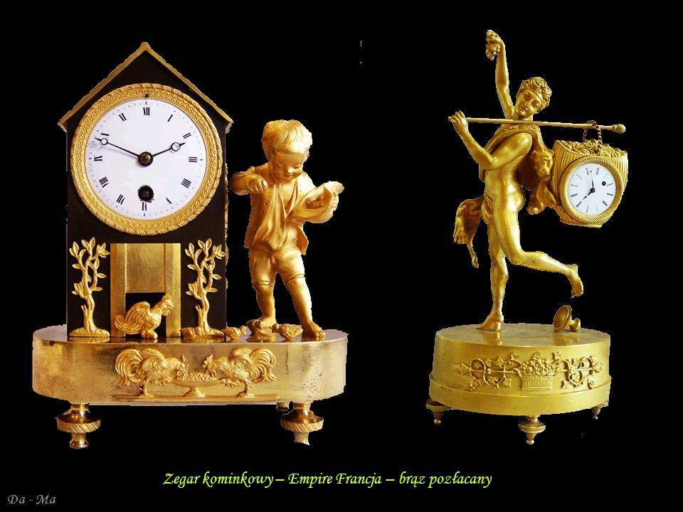 Da - Ma Zegar kominkowy – Empire Francja – brąz pozłacany