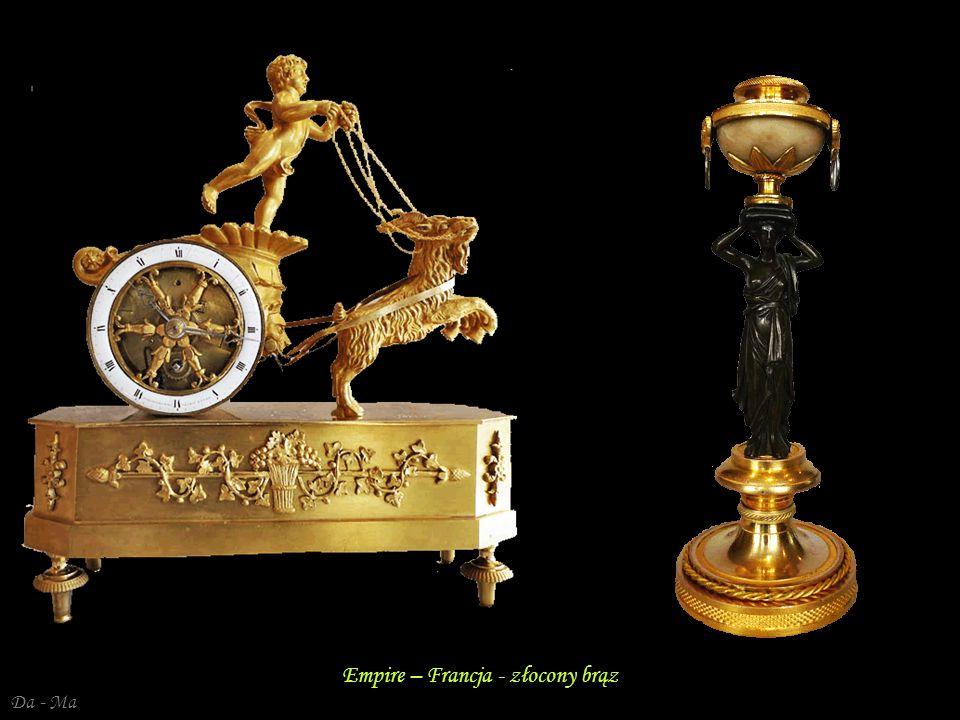 Da - Ma Empire – Francja - złocony brąz - Diana Empire – Francja - złocony brąz, kryształ