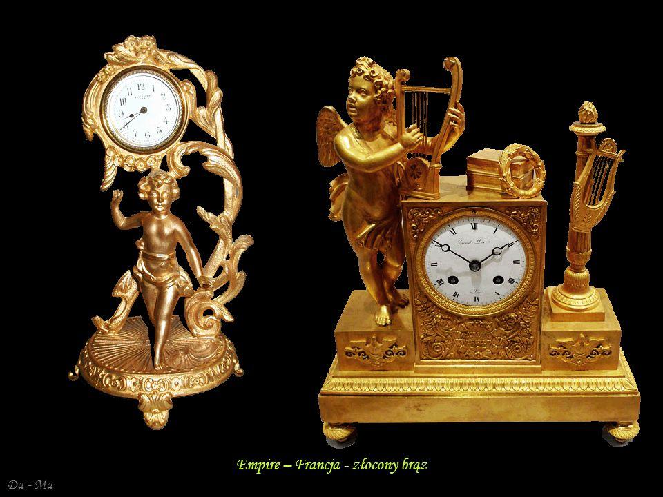 Da - Ma Zegar kominkowy – Empire Francja – brąz pozłacany Zegar kominkowy – Empire Francja – brąz pozłacany (Urania)