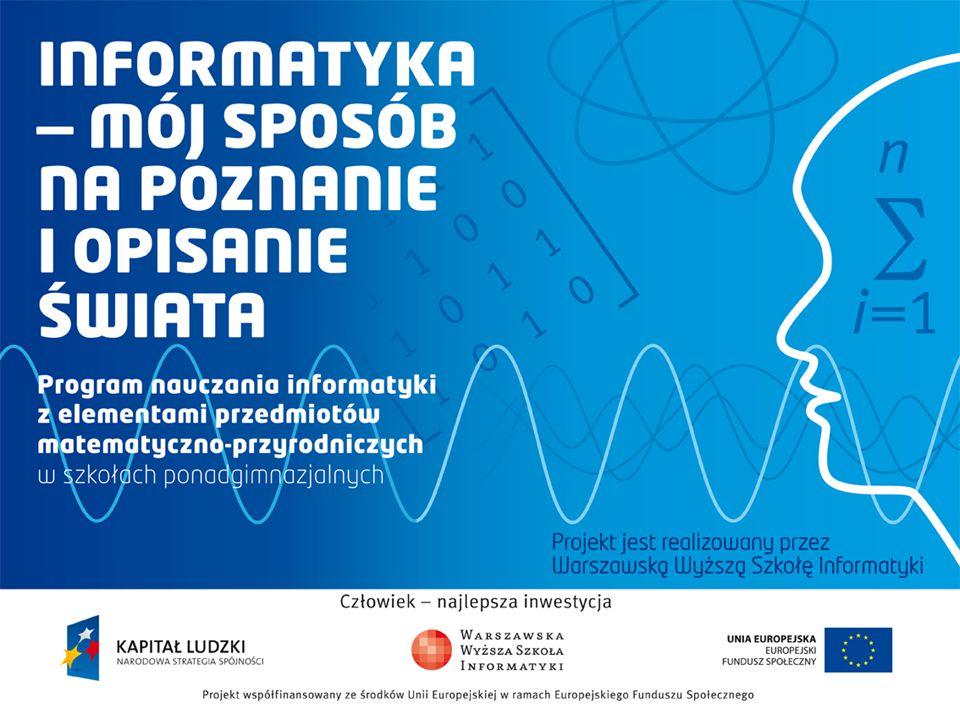 Treści multimedialne - kodowanie, przetwarzanie, prezentacja Odtwarzanie treści multimedialnych Andrzej Majkowski informatyka +