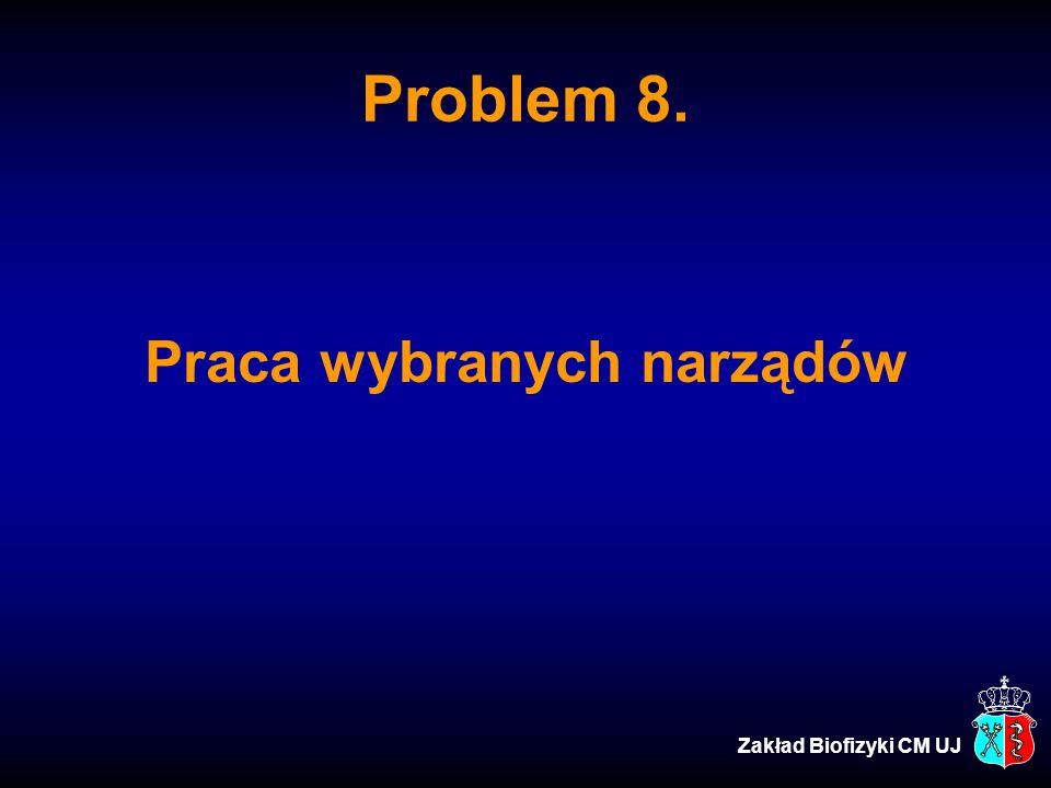 Problem 8. Praca wybranych narządów Zakład Biofizyki CM UJ