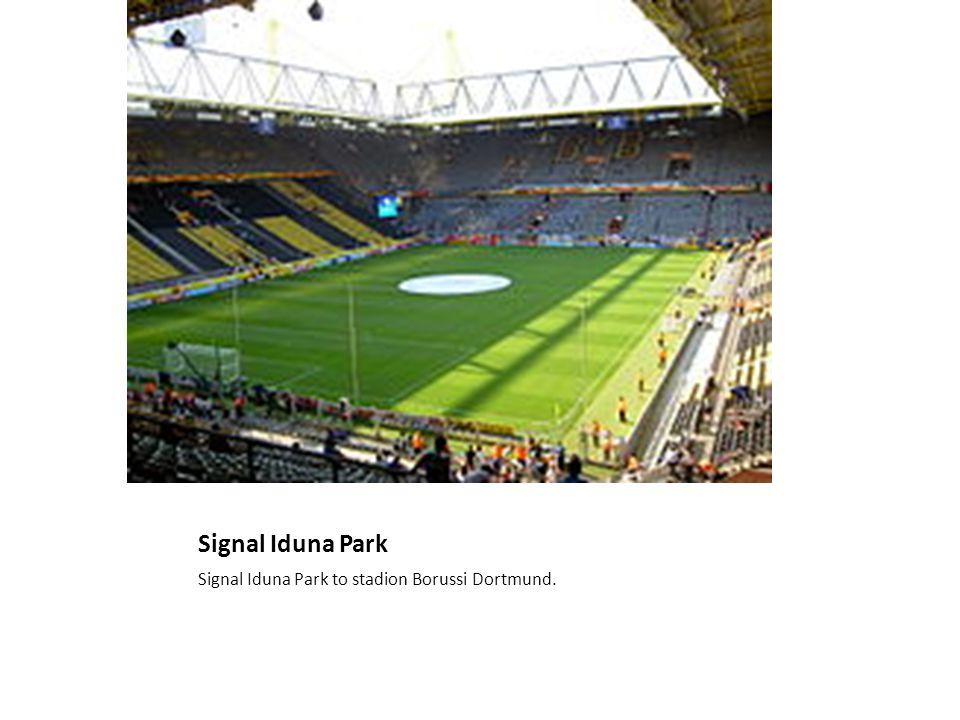 Signal Iduna Park Signal Iduna Park to stadion Borussi Dortmund.