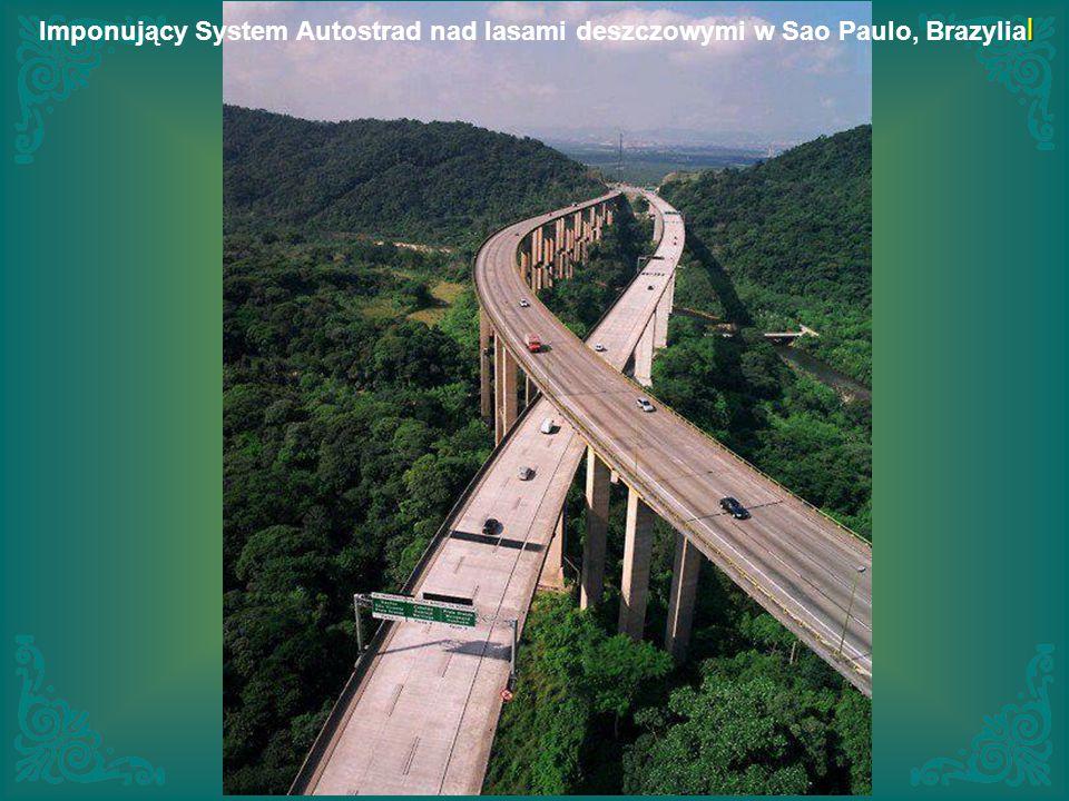l Imponujący System Autostrad nad lasami deszczowymi w Sao Paulo, Brazylia l