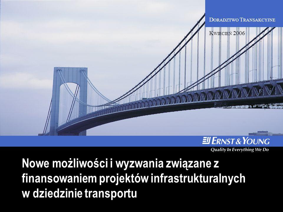 D ORADZTWO T RANSAKCYJNE Nowe możliwości i wyzwania związane z finansowaniem projektów infrastrukturalnych w dziedzinie transportu K WIECIEŃ 2006