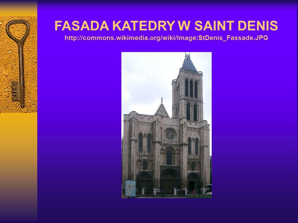 FASADA KATEDRY W SAINT DENIS http://commons.wikimedia.org/wiki/Image:StDenis_Fassade.JPG