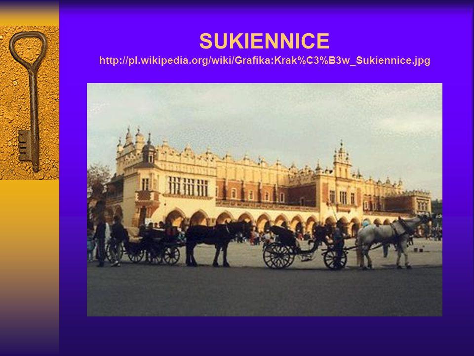 SUKIENNICE http://pl.wikipedia.org/wiki/Grafika:Krak%C3%B3w_Sukiennice.jpg