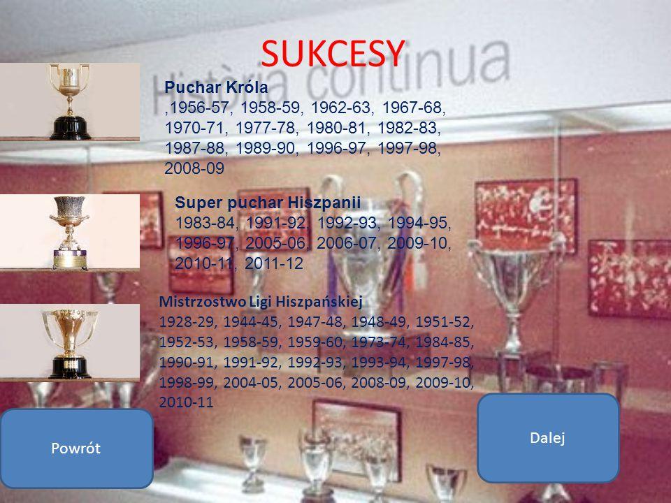 SUKCESY Mistrzostwo Ligi Hiszpańskiej 1928-29, 1944-45, 1947-48, 1948-49, 1951-52, 1952-53, 1958-59, 1959-60, 1973-74, 1984-85, 1990-91, 1991-92, 1992