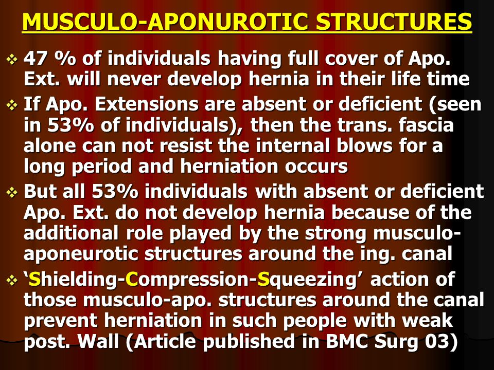 APONUROTIC EXTENSIONS