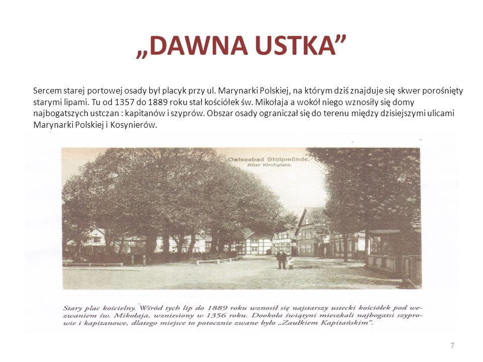 Sercem starej portowej osady był placyk przy ul. Marynarki Polskiej, na którym dziś znajduje się skwer porośnięty starymi lipami. Tu od 1357 do 1889 r