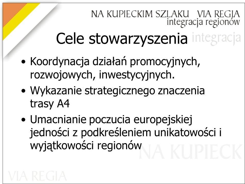 Cele stowarzyszenia Koordynacja działań promocyjnych, rozwojowych, inwestycyjnych.