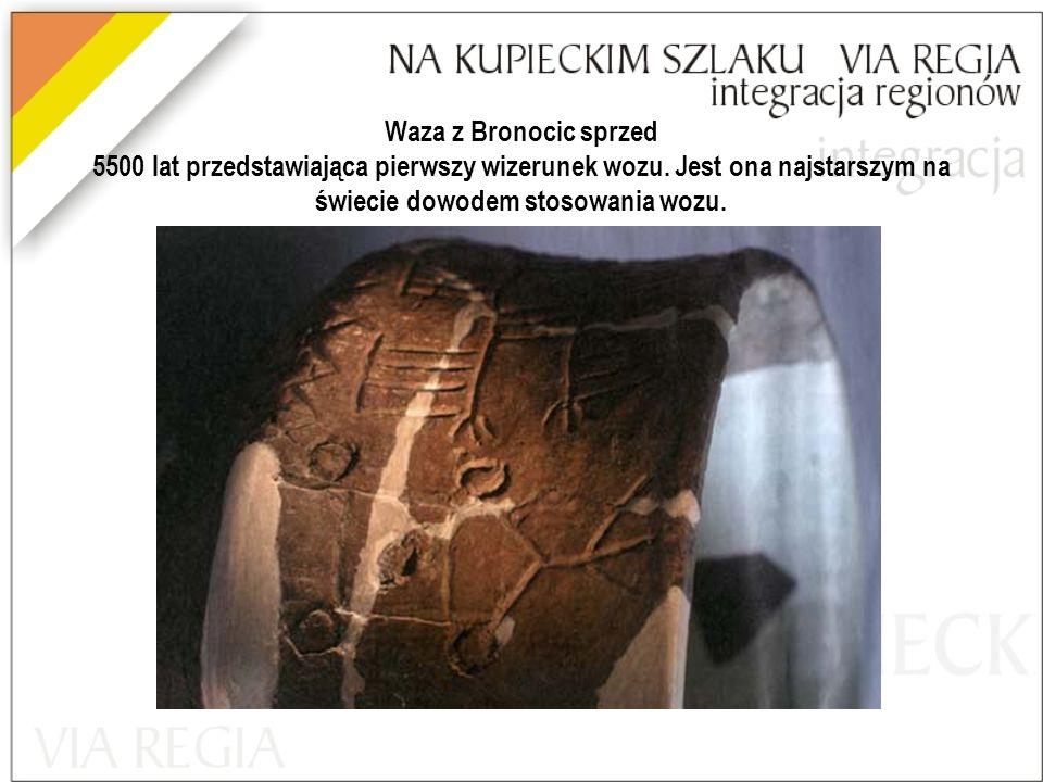 Waza z Bronocic sprzed 5500 lat przedstawiająca pierwszy wizerunek wozu.