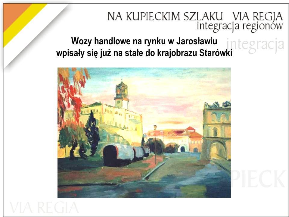 Wozy handlowe na rynku w Jarosławiu wpisały się już na stałe do krajobrazu Starówki