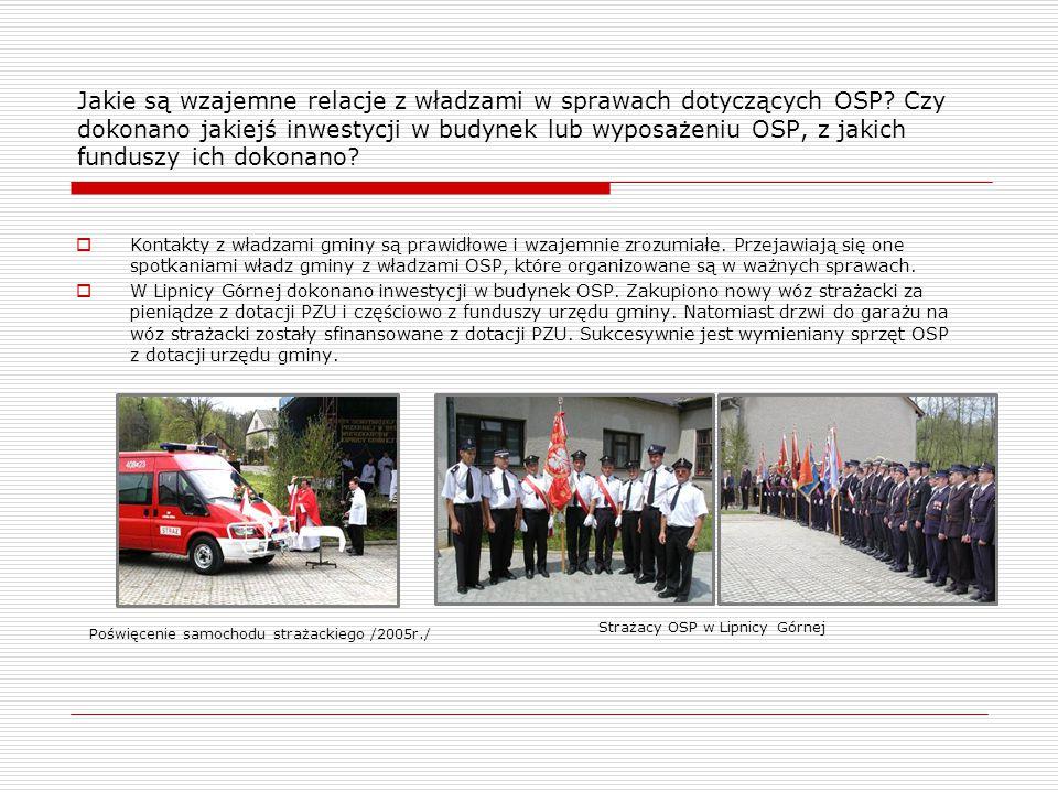Jakie są wzajemne relacje z władzami w sprawach dotyczących OSP.