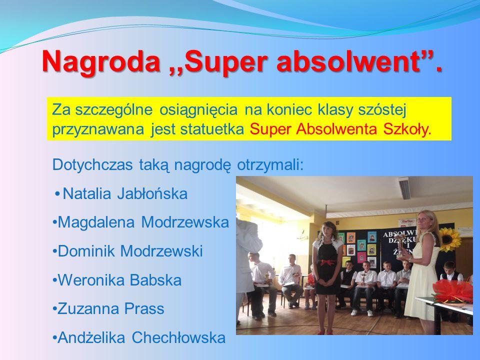 Nagroda,,Super absolwent .