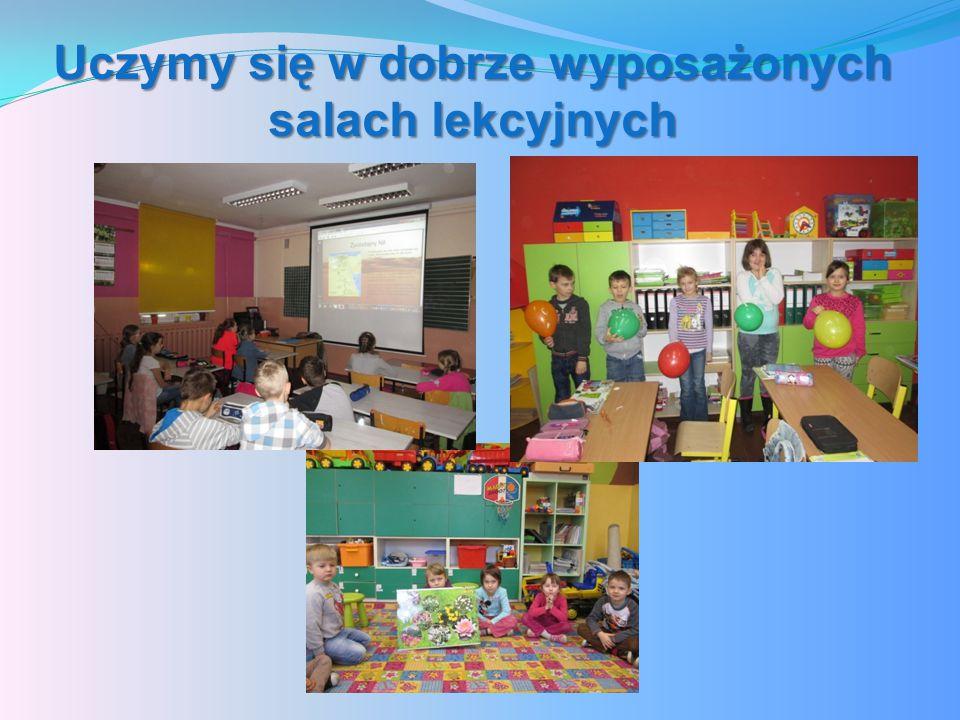 Uczymy się w dobrze wyposażonych salach lekcyjnych