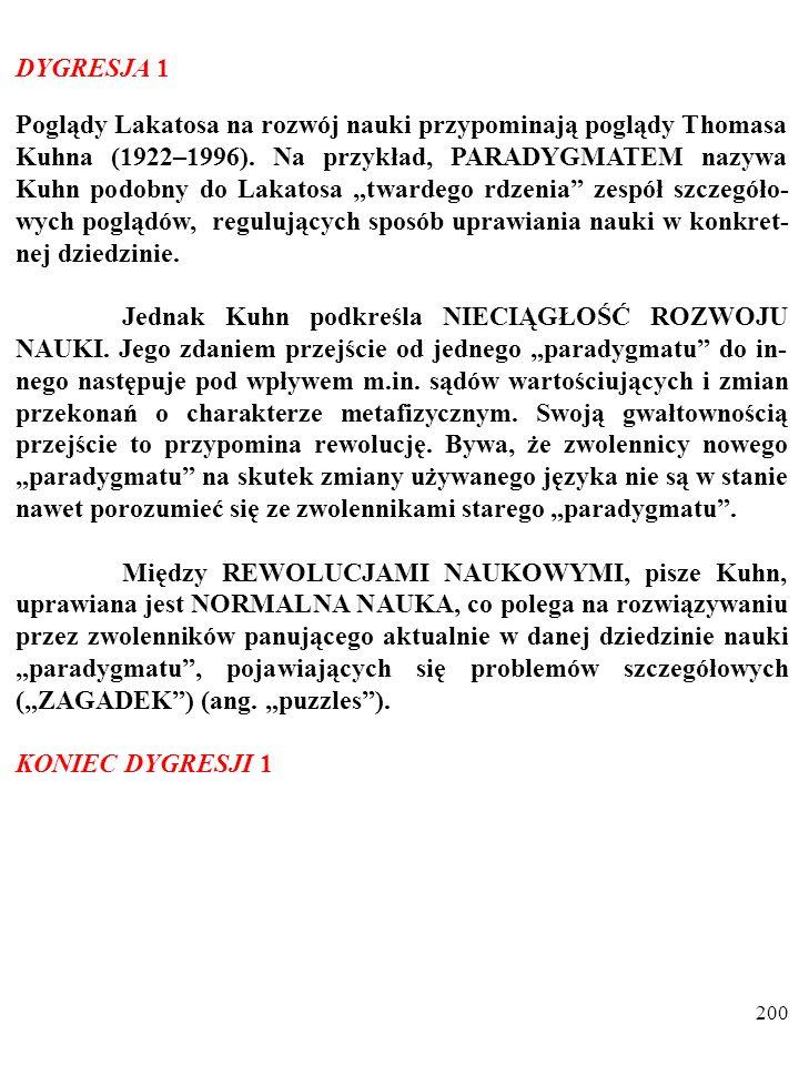 """199 Ocena teorii zależy od wielu dodatkowych kryteriów, a nie tylko od stopnia jej obserwacyjnego potwierdzenia (PAMIĘ- TASZ """"BRZYTWĘ OCKHAMA )."""