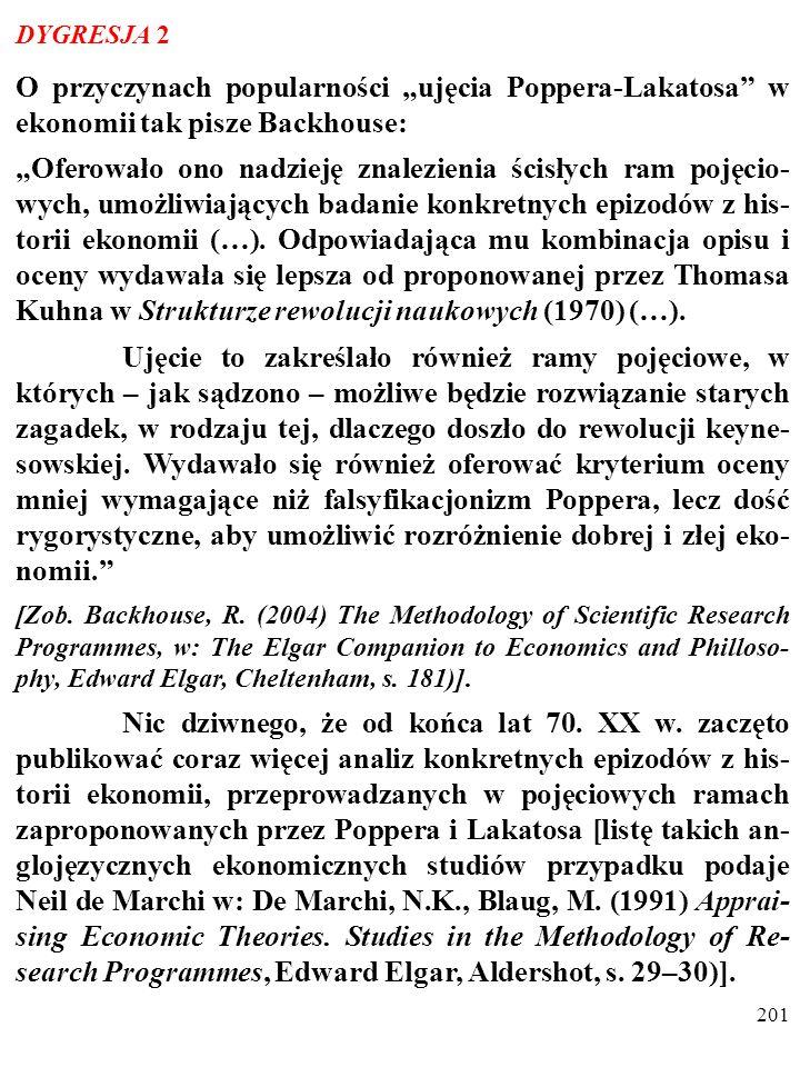200 DYGRESJA 1 Poglądy Lakatosa na rozwój nauki przypominają poglądy Thomasa Kuhna (1922–1996).