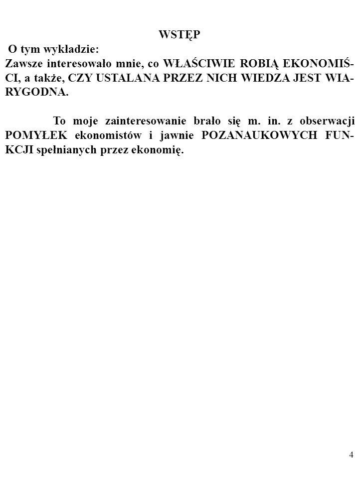 74 Inflacja i bezrobocie w USA w latach 1961-2002 TEST EMPIRYCZNY, CZĘŚĆ II Za: R.