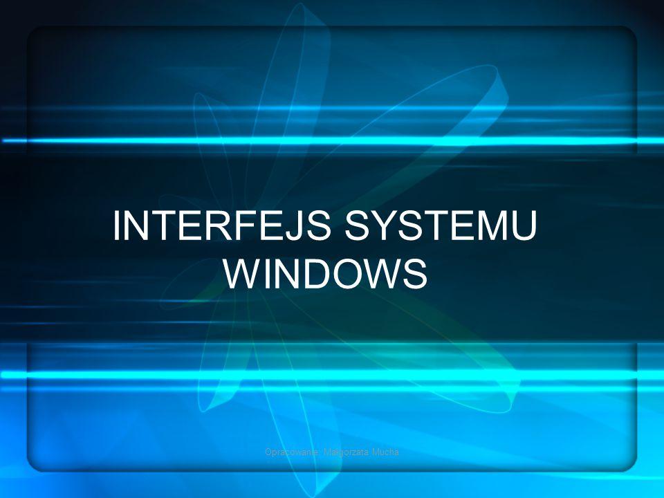 Opracowanie: Małgorzata Mucha INTERFEJS SYSTEMU WINDOWS