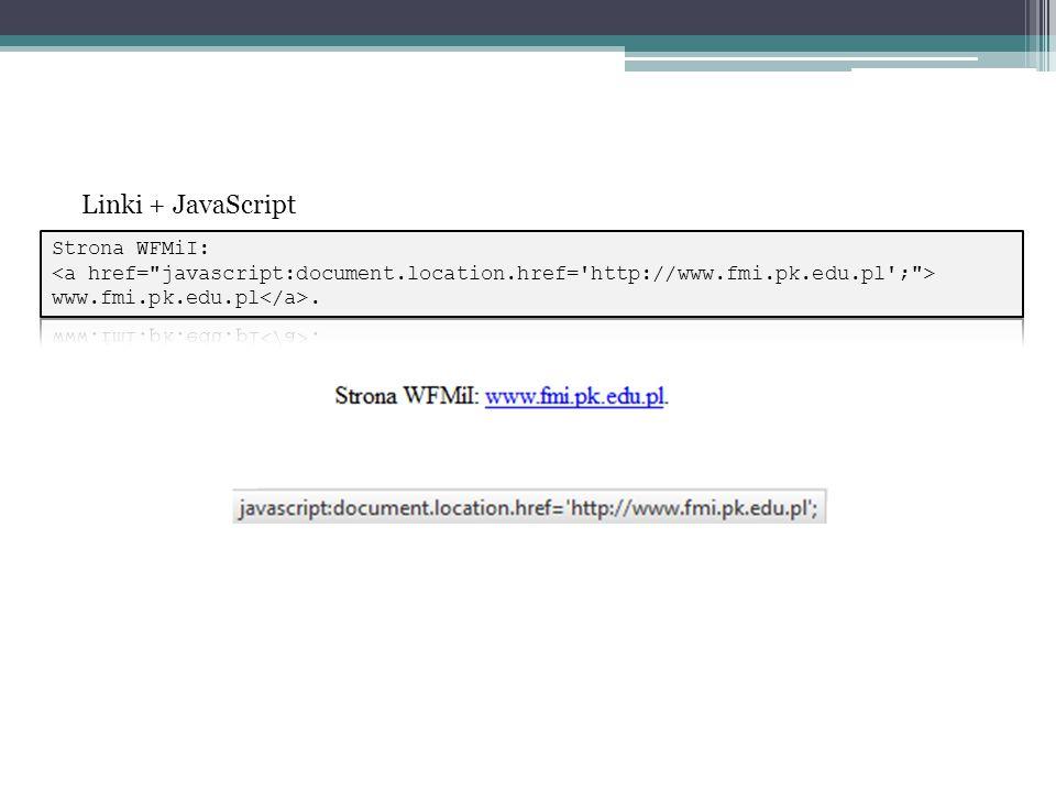 Linki + JavaScript