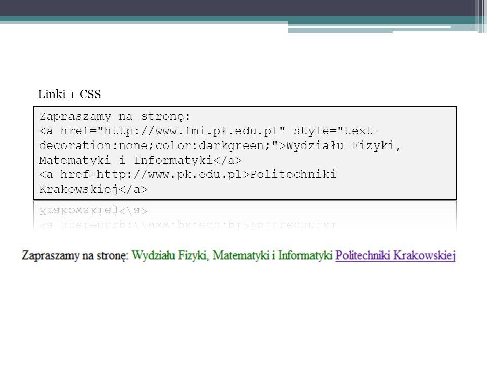 Linki + CSS