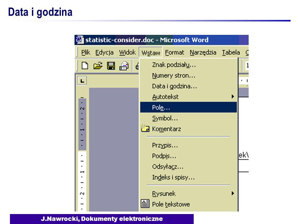 J.Nawrocki, Dokumenty elektroniczne Data i godzina
