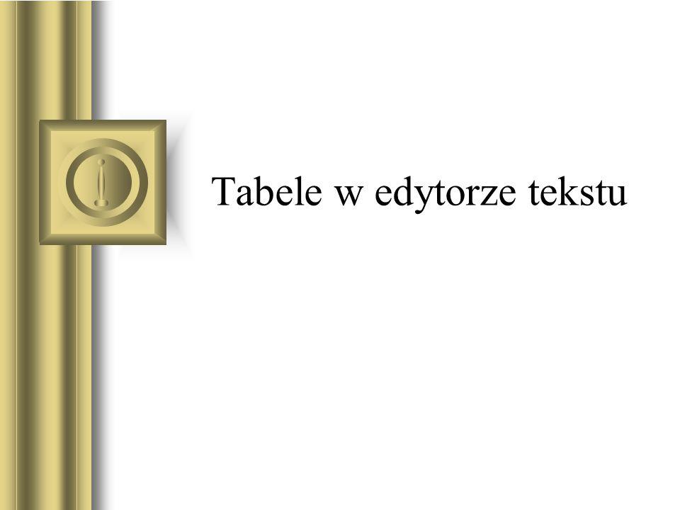 Tabele w edytorze tekstu