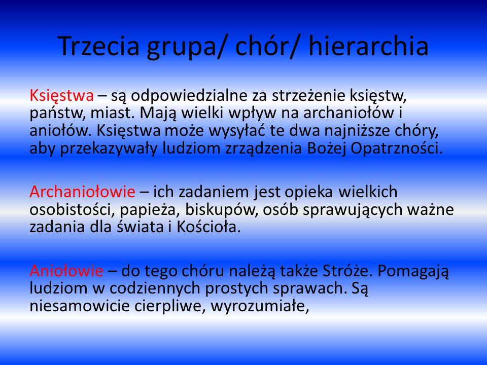 Trzecia grupa/ chór/ hierarchia Księstwa – są odpowiedzialne za strzeżenie księstw, państw, miast.