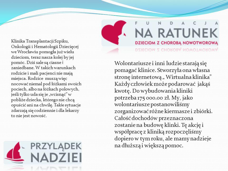 Klinika Transplantacji Szpiku, Onkologii i Hematologii Dziecięcej we Wrocławiu pomogła już wielu dzieciom, teraz nasza kolej by jej pomóc. Dziś sale s
