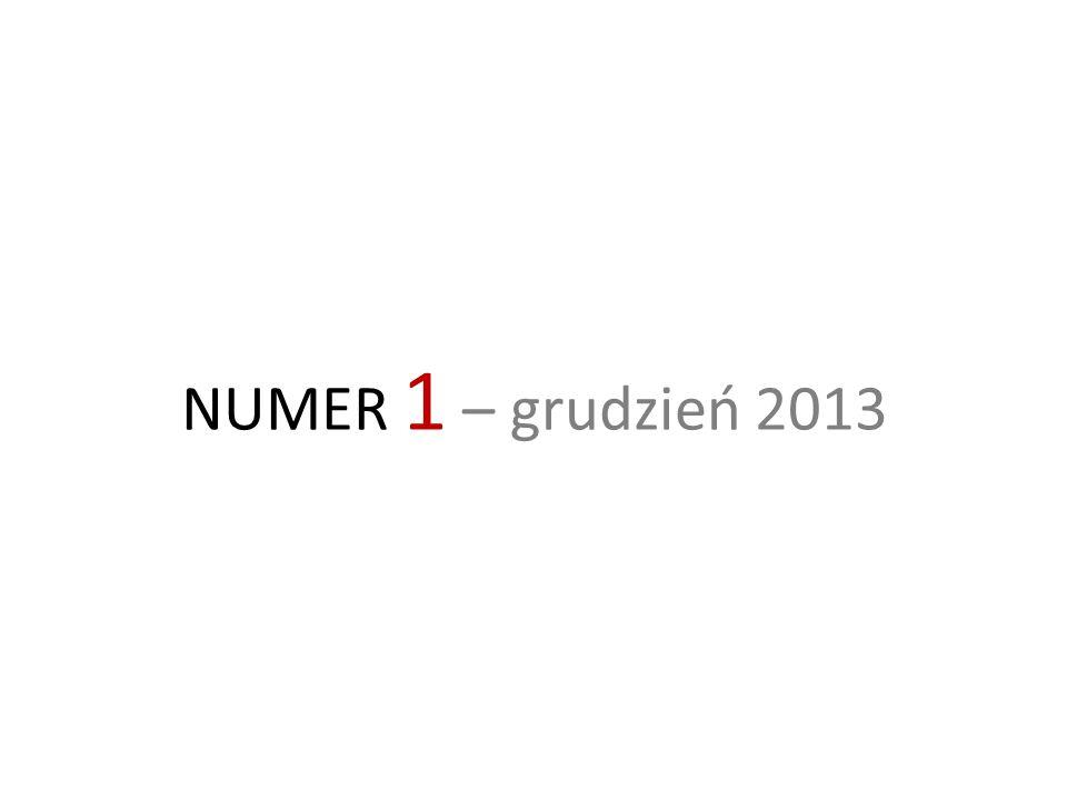 NUMER 1 – grudzień 2013