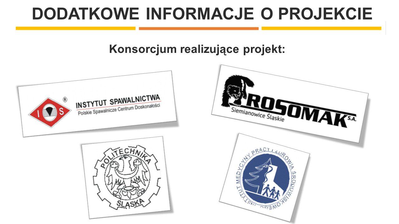 DODATKOWE INFORMACJE O PROJEKCIE Konsorcjum realizujące projekt: