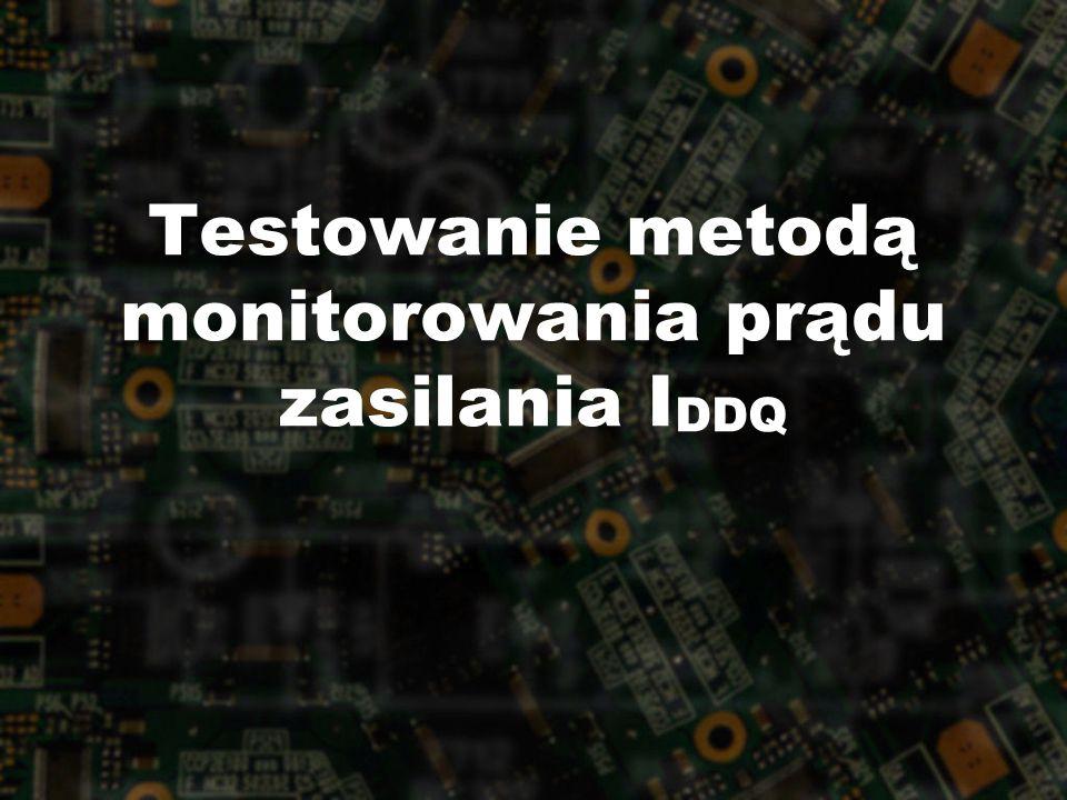 Testowanie metodą monitorowania prądu zasilania I DDQ