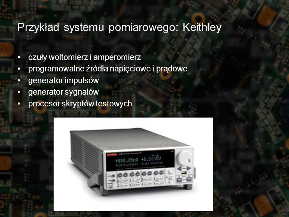 czuły woltomierz i amperomierz programowalne źródła napięciowe i prądowe generator impulsów generator sygnałów procesor skryptów testowych